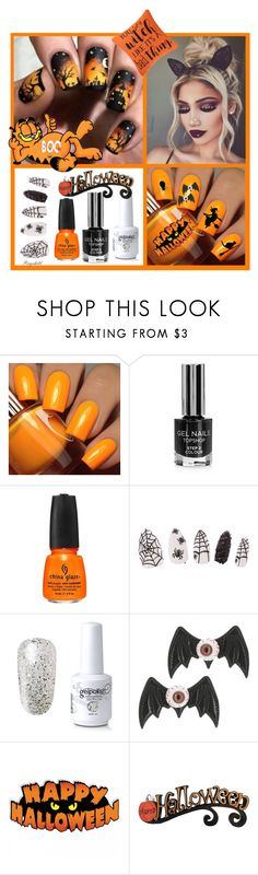 """Boo-Tiful: Halloween Nail Art"" by ragnh-mjos ❤ liked on Polyvore featuring beauty, Floss Gloss, Topshop, China Glaze and Kreepsville 666"