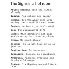 True, I'm very uncomfortable when it's hot, but really Aquarius sounds more like this Pisces.