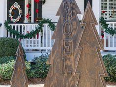 How to make rustic nail-aead Christmas trees