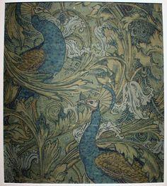 beautiful peacock vintage wallpaper