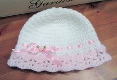 Crochet Baby Hat/Baby Girl Hat/Baby Bonnet/Baby by TheComfyBaby
