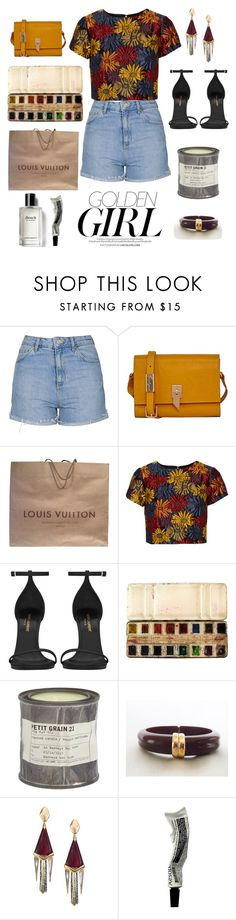 """""""You're gold"""" by mondaydreamer ❤ liked on Polyvore featuring Topshop, Murphy, Foley + Corinna, Louis Vuitton, Alice + Olivia, Yves Saint Laurent, Le Labo, Avon, Alexis Bittar and Aesop"""
