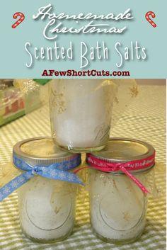 Homemade Christmas. Make and give scented bath salts!