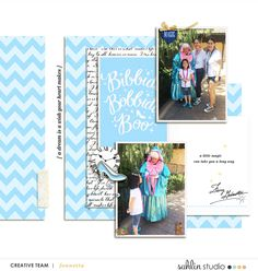 Meeting Disney Fairy Godmother digital scrapbook layout using Project Mouse (Princess) Cinderella | Kit & Journal Cards by Britt-ish Designs and Sahlin Studio