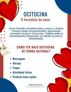 Ocitocina: hormônio do amor School Motivation, Student Studying, Biology, Medicine, Stress, Therapy, Knowledge, Mindfulness, Coaching