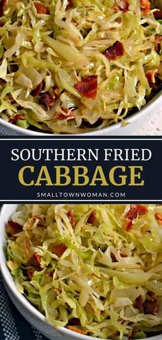 A simple 6-ingredient side dish recipe perfect for roasted chicken, grilled steak, fried fish, and even Ham Steak! This simple cabbage recipe with bacon is so nutritious, versatile, delicious, and budget-friendly. Save quick and easy recipe! Side Dishes For Fish, Steak Side Dishes, Side Dishes For Chicken, Side Dishes Easy, Vegetable Dishes, Side Dish Recipes, Sides For Fish Fry, Fried Fish Sides, Cabbage Side Dish
