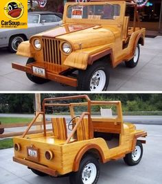 Jeep Freak of the Day! All Wood Jeep!