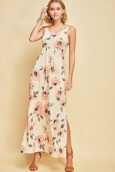 Blush Taupe Floral Dress Floral Maxi Dress 54e38dc6d