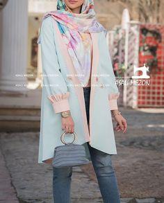 Fashion Drawing Dresses, Skirt Fashion, Fashion Dresses, Iranian Women Fashion, Turkish Fashion, Colourful Outfits, Colorful Fashion, Street Hijab Fashion, Hijab Fashion Inspiration