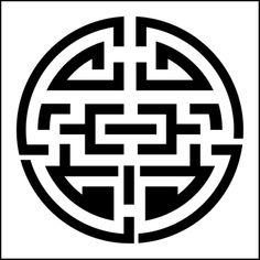 Maze stencil from The Stencil Library JAPAN range. Buy stencils online. Stencil code JA82.