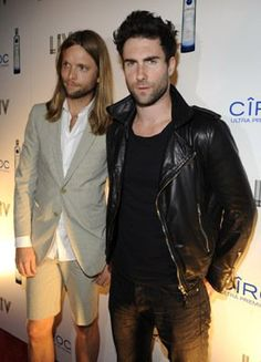 Adam Levine and James Valentine