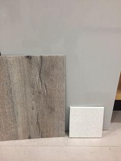 Benchmarx grey gloss, Moduleo Mountain Oak floor and polar cap silestone