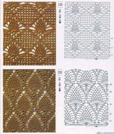 crocheted pineapple diagrams