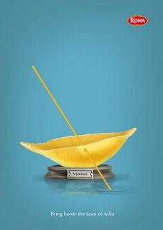 Roma food ad-print on Behance
