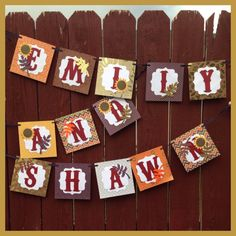 Fall Bridal Shower Name Banner by Hdoodle on Etsy