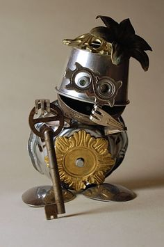 -Junk Robot Art -Found Object Art  -Made By: Uggleborg                                                                                                                                                                                 More