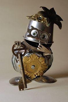 -Junk Robot Art -Found Object Art -Made By: Uggleborg