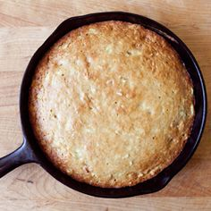 Banana bread cooked in a skillet