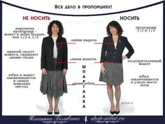 Пропорции костюмного ансамбля