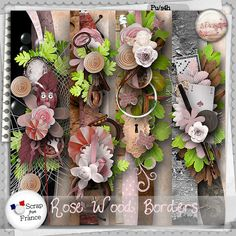 Rose wood Borders by S.Designs
