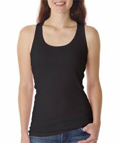 This tank top has a great length for layering.