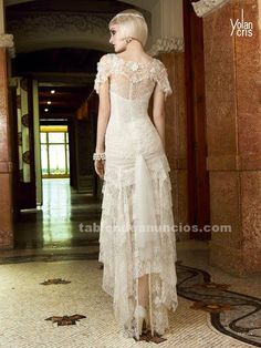 Foto Vestido de novia nuevo yolan cris verona Boho Chic Wedding Dress, Elegant Wedding Dress, Vestidos Vintage, Vintage Dresses, Weeding Dress, Bridal Style, Pretty Outfits, Wedding Styles, Marie