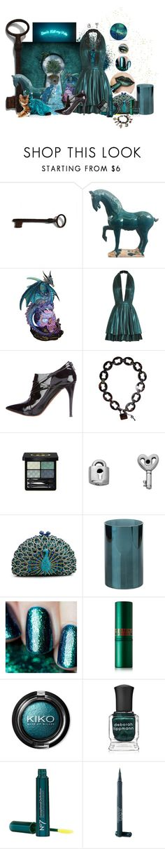 """""""Oh all these dark tealings"""" by duci ❤ liked on Polyvore featuring Just Cavalli, Bottega Veneta, Gucci, Itsy Bitsy, LuxMob, Zodax, Gaia, Lipstick Queen, Deborah Lippmann and Boots No7"""