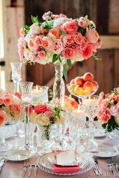 Wedding reception flower idea; photo: Mango Studios