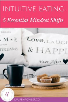 Intuitive Eating: 5 Essential Mindset Shifts    Intuitive eating is about changing your intentions around eating. Instead of eating for weight loss, it's eating for energy, for pleasure, for nutrition, for listening to your body. Learn these mindset shifts over on the full blog post!