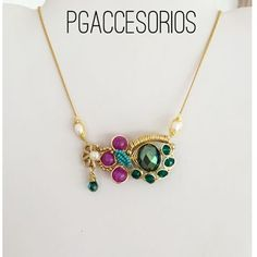 PG #pgaccesorios #chapadeoro #handmadejewerly #goldplated #hechoamano #hechoenmexico #jewerly #collar #necklace #accesorios #joyeria #diseñomexicano #jade #perlas #cristal