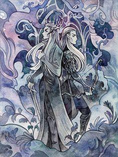Thranduil and Legolas by CryptoArt