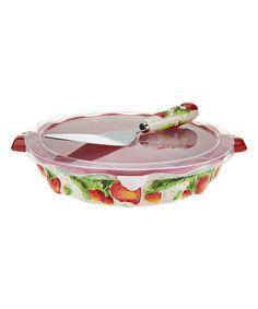 Look at this #zulilyfind! Strawberry Figural Fruit Pie Dish & Server #zulilyfinds