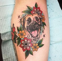 Pin for Later: Tattoo Ideas Inspired by Our Favorite Furry Friends — Our Pups! Tribal Tattoos, Tattoos Skull, Elephant Tattoos, Dog Tattoos, Trendy Tattoos, Couple Tattoos, Cat Tattoo, Celtic Tattoos, Lion Tattoo
