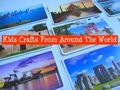 A fun addition to World Thinking Day -- making a craft from a different country. My Father's World, We Are The World, Around The World Theme, Around The Worlds, Geography Games For Kids, Geography Activities, World Thinking Day, Girl Scout Crafts, World Crafts