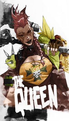 I coloured in the poster of the Junkertown Queen : Overwatch