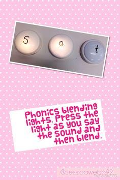 Phonics blending lights. EYFS