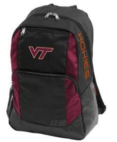 Show you team pride while on the go with this Collegiate Closer Backpack. Made of rich black polyester fabric, it features team color accents, a screen printed team logo and wordmark, as well as multiple pockets and an exterior water bottle pocket. Virginia Tech Apparel, Virginia Tech Hokies, Backpacking Oregon, Backpack Online, Alabama Crimson Tide, Logo Branding, Team Logo, Closer, Backpacks
