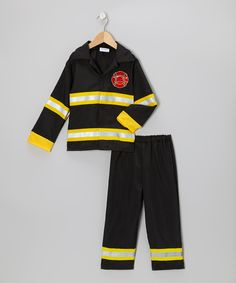 Take a look at this Black Firefighter Dress-Up Set - Toddler & Kids on zulily today!