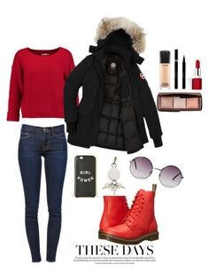 """""""Bez naslova #3"""" by mila96h ❤ liked on Polyvore featuring Frame Denim, Rebecca Minkoff, Dr. Martens, Monki, Alexander Wang, MAC Cosmetics, Hourglass Cosmetics, Sisley, Clinique and winterstyle"""