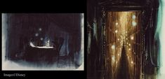 Long-Forgotten: The Haunted Mansion Boat Ride - Has any artwork for Joeger's concept ever made it out into the public eye? McKim's sketches, if they still exist, remain unpublished. However, there is a pair of eerie Dorothea Redmond watercolors worth looking at. They are identified as concept art for the Haunted Mansion. We've seen a couple of Redmond's Mansion paintings before. They're moody and serious, but also surrealistic and hallucinatory. Claude Coats meets Rolly Crump, you could say: