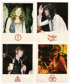 (Clockwise, from top left) Robert Plant, Jimmy Page, John Bonham, John Paul Jones