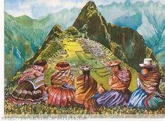 Ampliar Mexican Paintings, Peruvian Art, Cute Illustration, Native American Indians, Art World, American Art, Landscape Paintings, Folk Art, Fine Art Prints