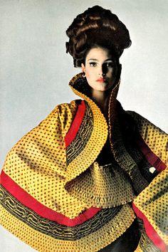 Benedetta Barzini by Bert Stern, 1965.