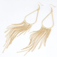 """$FIRM$ 12/23 HP Gold Tear Drop Tassel Earrings NWOT-Made of alloy. Approximately 6"""" long and 1"""" wide. Please feel free to ask questions. Price is FIRM, unless Bundled No: Holds, Trades, or PP! Thank you! Faith & Sparkle Jewelry Earrings"""