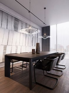 Residence in Moscow on Behance Adobe Photoshop, Autodesk 3ds Max, Concrete Wall, Interiores Design, Moscow, Interior Architecture, Dining Table, Behance, House