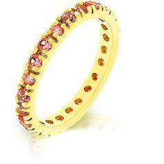 Pink Ice Cubic Zirconia Eternity Ring