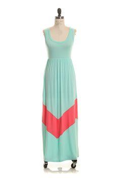 Melrose Chevron Maxi Dress - Plus Size mommy and me $45 www.gypzranch.com
