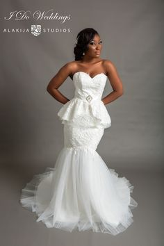 Fabulous  Bridal Collection by Love Tims by I Do Weddings Peplum Wedding Dress