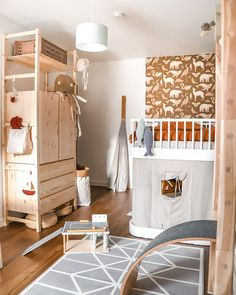 Thank you for using the hashtag so we could discover how your son's room is evolving! Ikea Kids, Rooms Home Decor, Baby Room Decor, Baby Rooms, Ikea Baby Nursery, Low Loft Beds, Childrens Room Decor, Diy Bed, Bed Furniture