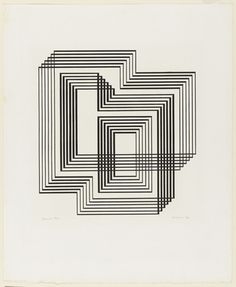 Design  shrine, from the Graphic Tectonic series, by Josef Albers (1942)